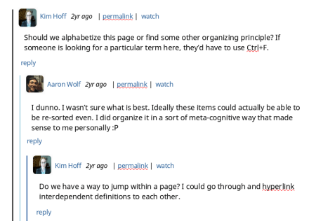 image of old discussion-board style